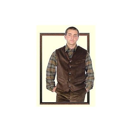 Tailored waistcoat in velvet