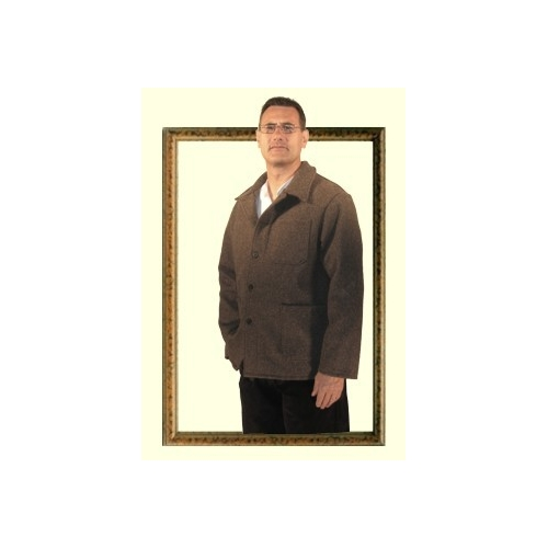 Jacket in 100% wool cloth BUREL