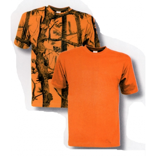 Tee-shirt de chasse fluo Percussion