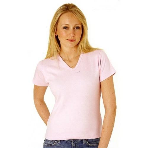 Tee-shirt moulant col V 220 g/m²