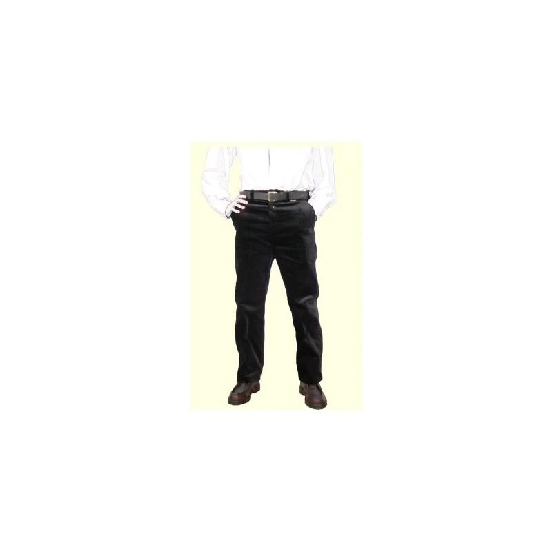 Pantalon droit velours à passants