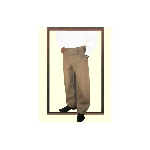 Destockage d'un pantalon largeot à passants en lin Le Laboureur T44