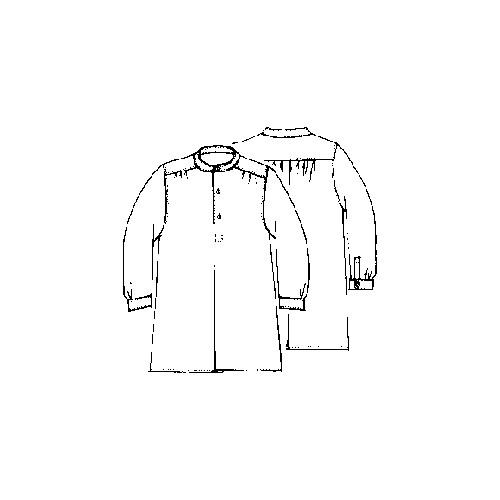Chemise plissée à l'ancienne