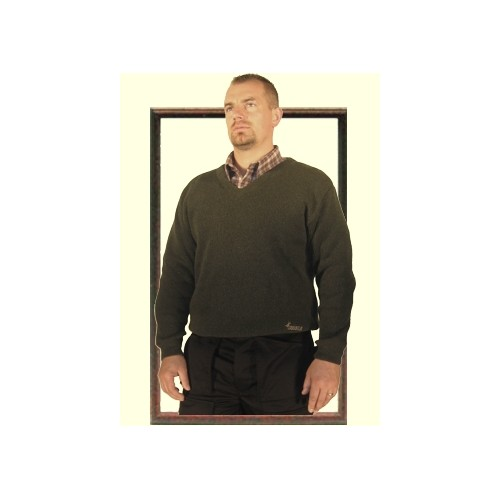 Pull col V maille camionneur