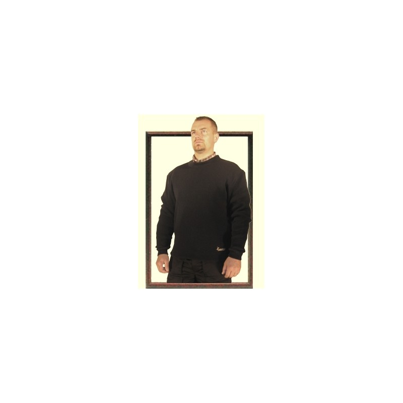 Pull col rond, maille camionneur