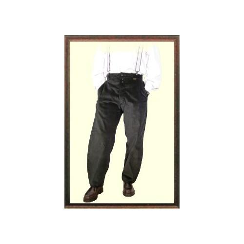 Pantalon largeot velours compagnon à passants