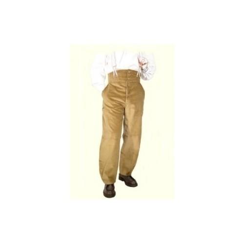 Pantalon largeot velours compagnon à tirants