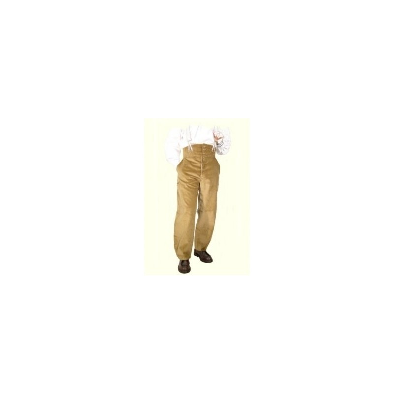 Pantalon largeot velours à tirants Le Laboureur Compagnon