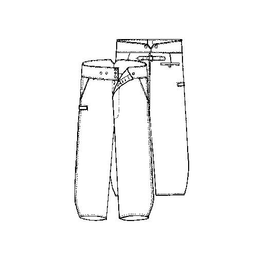 Pantalon largeot moleskine à tirants LE LABOUREUR