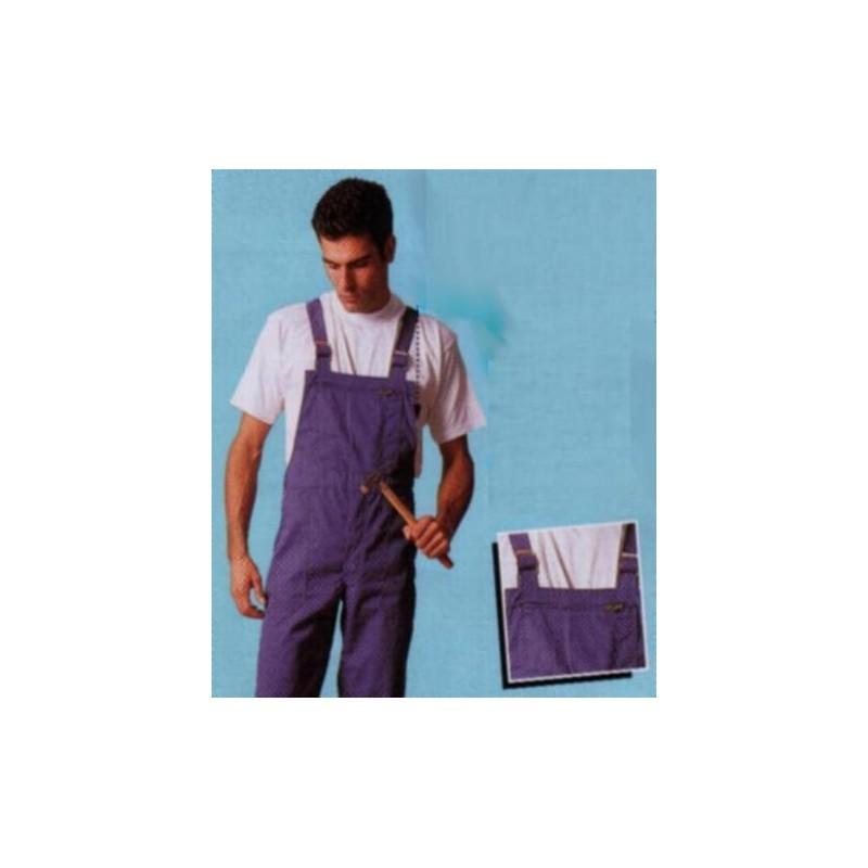 Cotte à bretelles polyester/coton