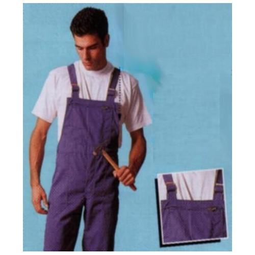 Cotte à bretelles coton/polyester