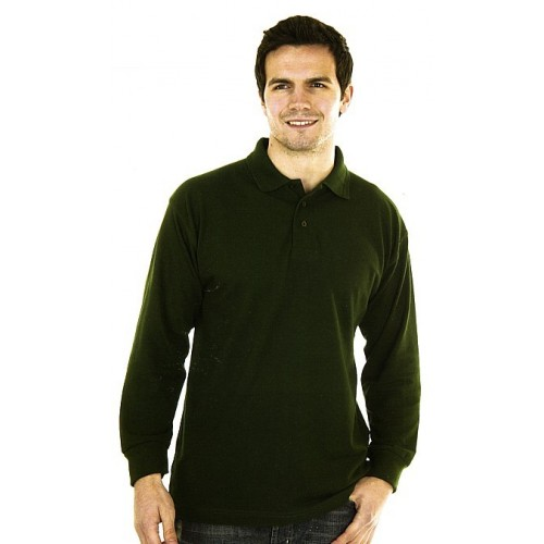 Polo manches longues poly/coton 240 g/m² - Classic quality