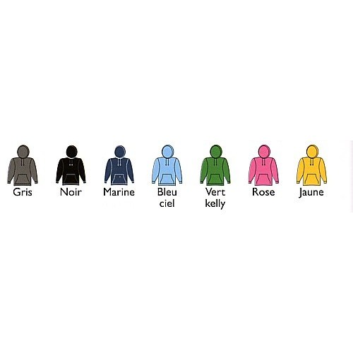 Sweat capuche poly/coton 280 g/m²