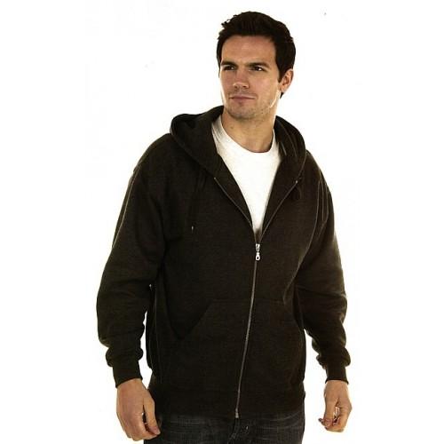 Sweat capuche zippé poly/coton 340 g/m² RK