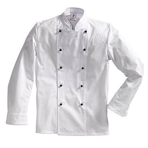 Veste de cuisinier avec boutons plats