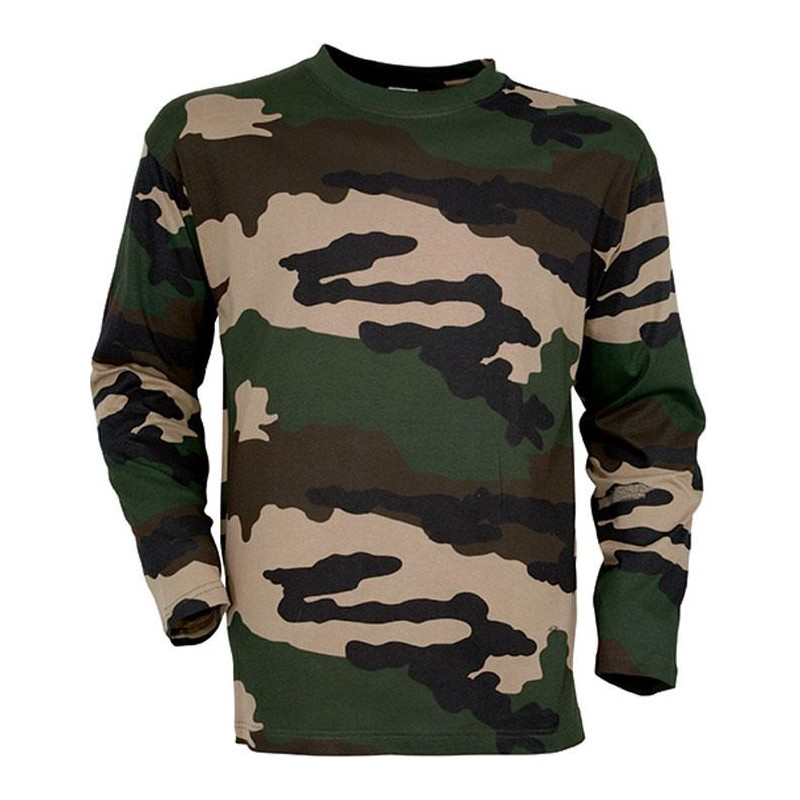 tee shirt manches longues camo. Black Bedroom Furniture Sets. Home Design Ideas