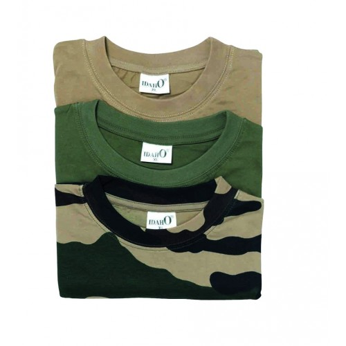 Pack de 3 Tee-shirt unis + camo Idaho