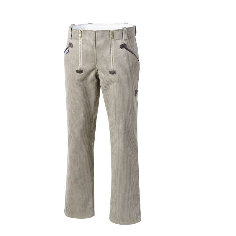 Pantalon de charpentier en velours côtelé