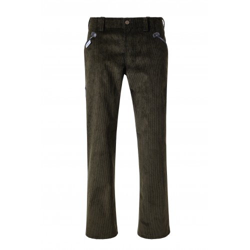 Pantalon largeot velours Pionier avec simili cuir