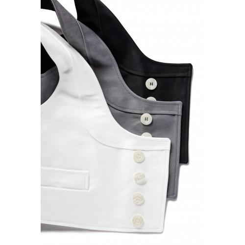 Gilet de tailleur de tailleur de pierre en moleskine blanc