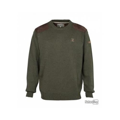 Pull de chasse brodé col rond Percussion