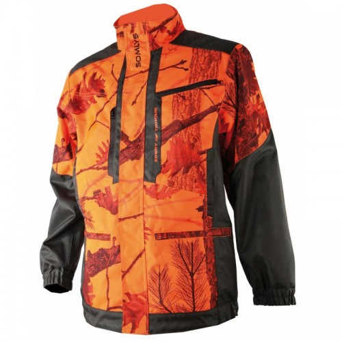 Veste de traque camouflage orange
