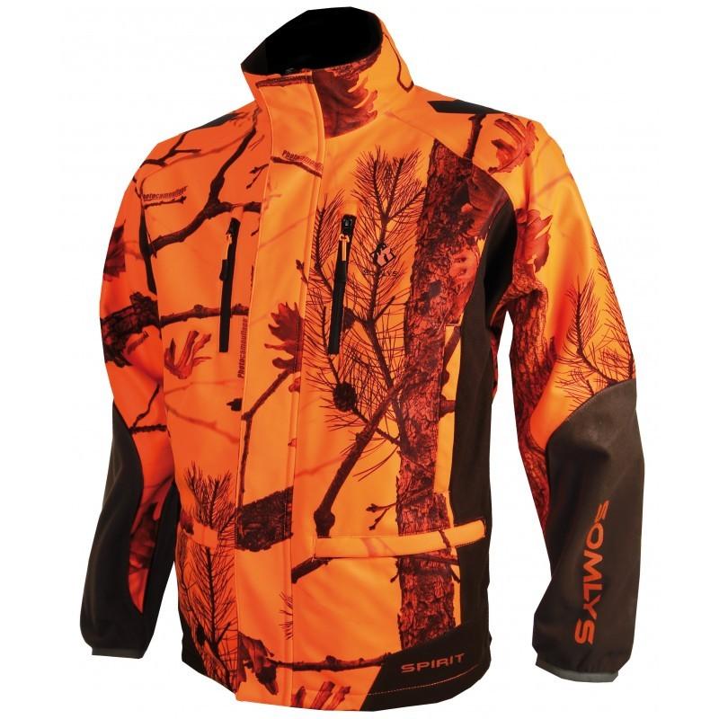 Veste Spirit Softschell camouflage 3 Orange