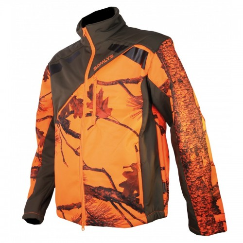 Veste softschell Sherpa camo orange