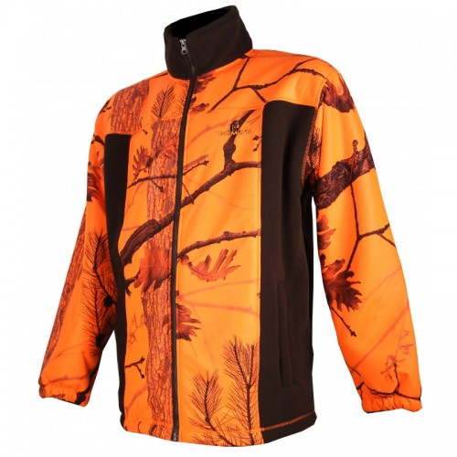 Blouson polaire marron et camouflage