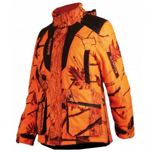 Veste matelassée orange pour femme