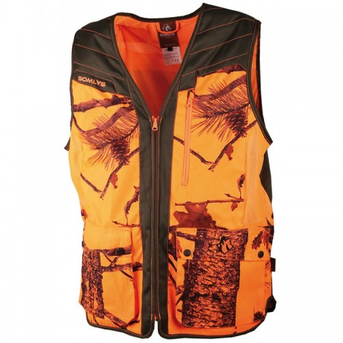 Gilet camo orange summer V2 Somlys