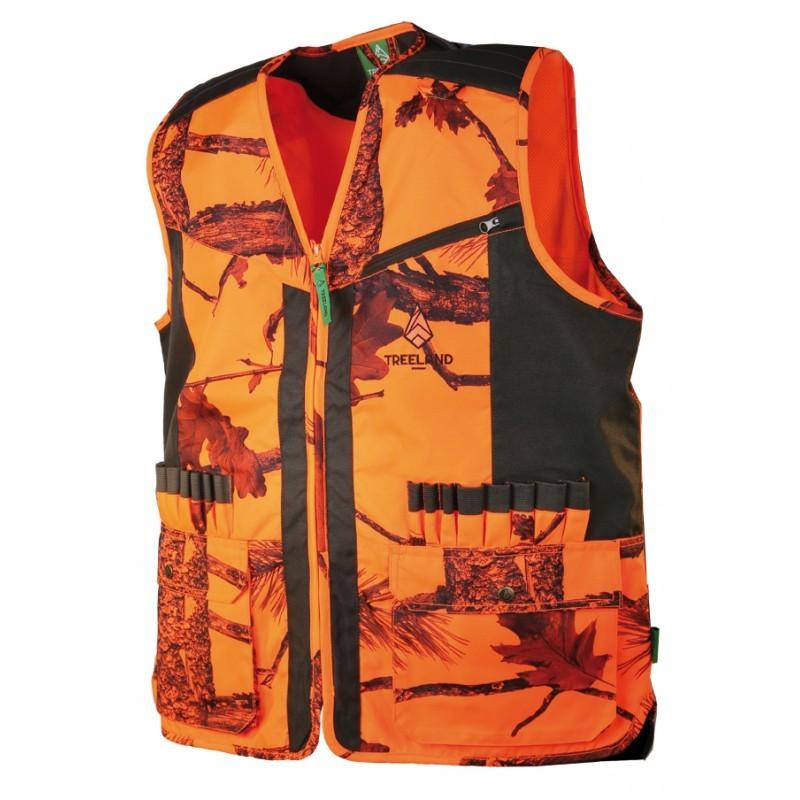 Gilet camouflage orange