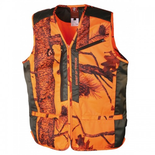 Gilet anti-ronces camo orange