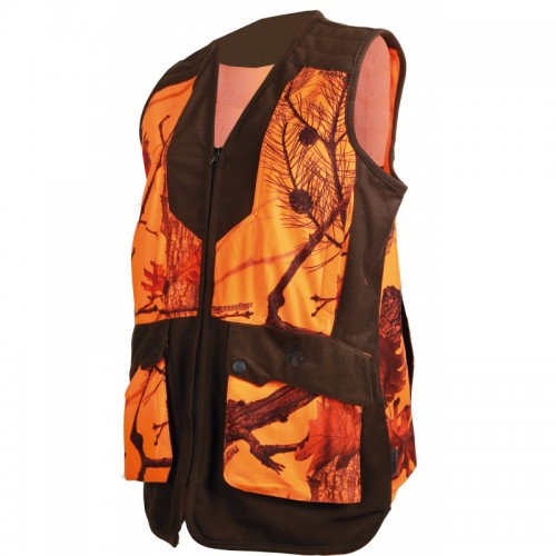 Gilet camouflage orange pour femme Somlys