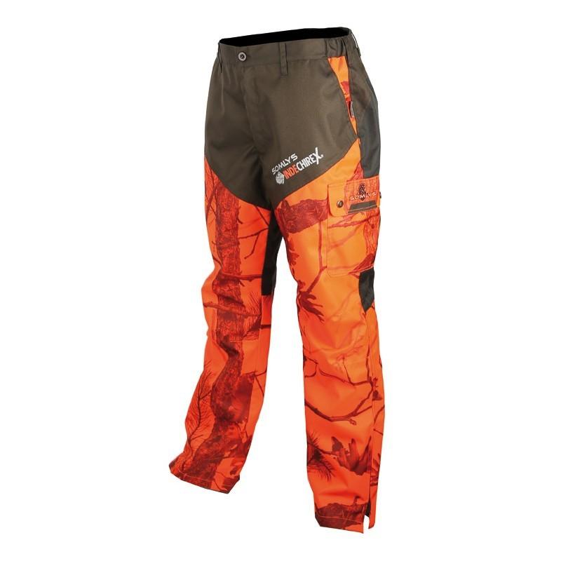 Pantalon fuseau indéchirex camouflé orange