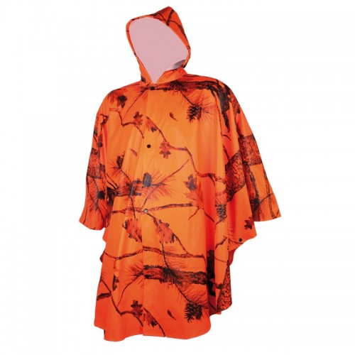 Poncho camo orange