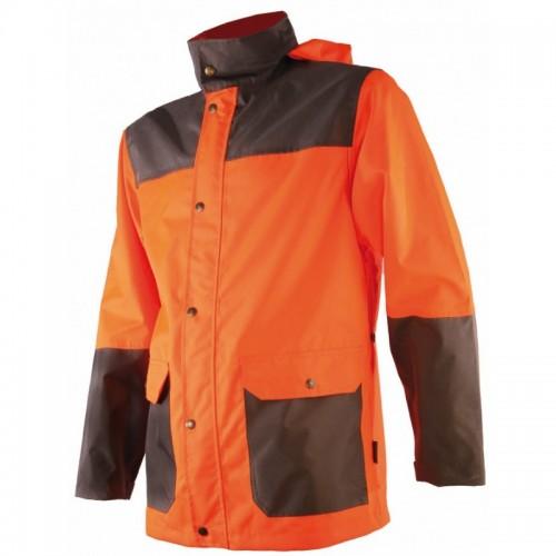 Veste de pluie orange