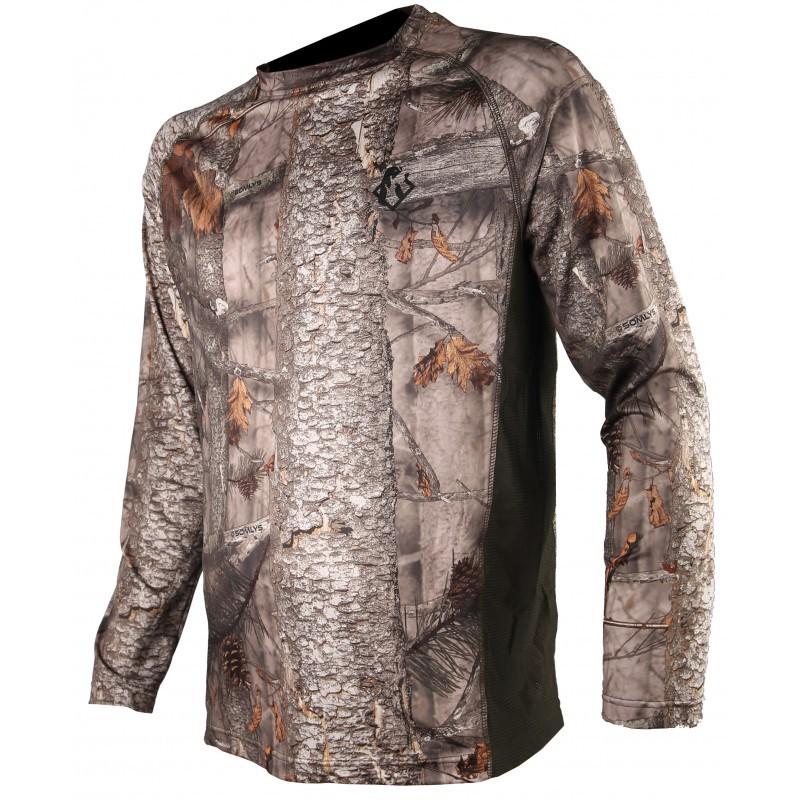 Tee-shirt manches longues spandex camo 3DX