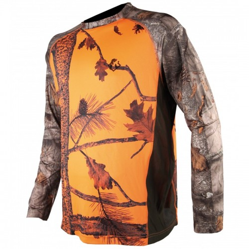 Tee-shirt manches longues camo orange
