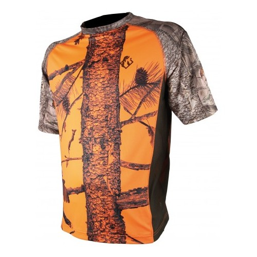 Tee shirt enfant Spandex camo orange