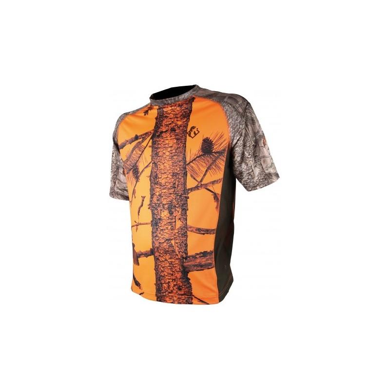 Tee shirt enfant Spandex camo orange