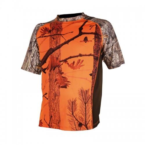 Tee-shirt camouflage orange
