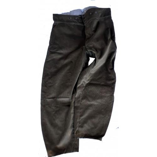 Pantalon largeot velours à tirants Le Laboureur Compagnon entrejambe 82 taille 64