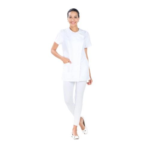 Tunique de travail pour Dame CELINE Lotus Blanc