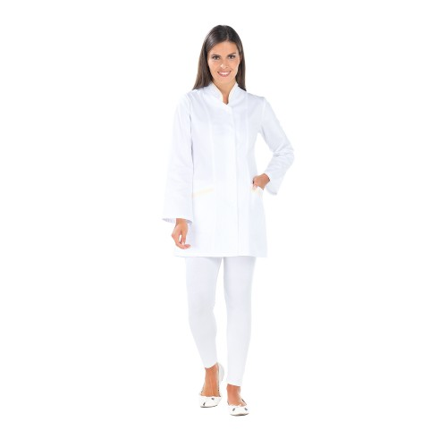 Tunique de travail pour Dame CAPUCINE Lotus Blanc
