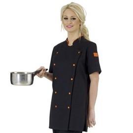 Veste de cuisine femme manches courtes