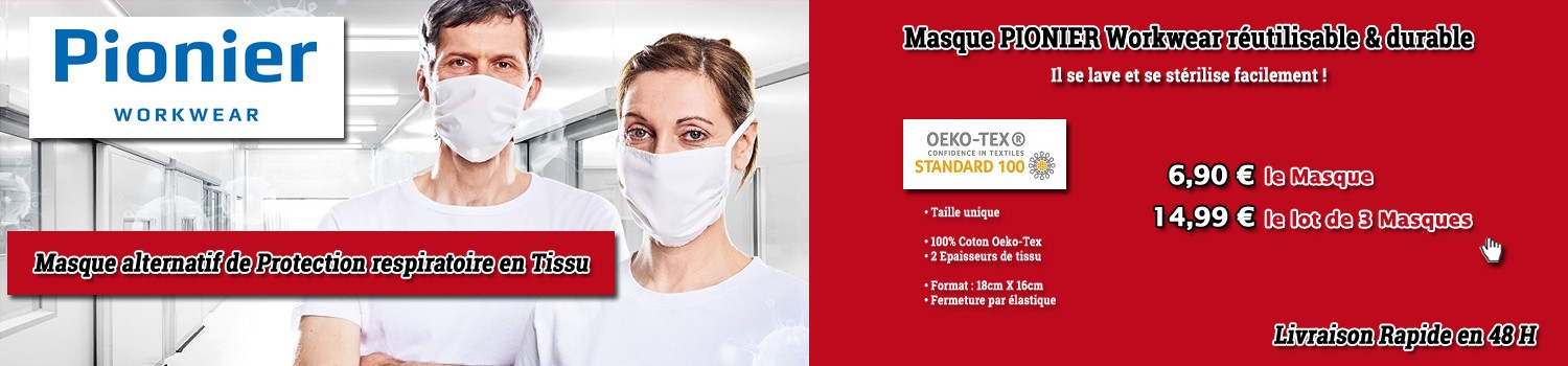 Masque alternatif de Protection respiratoire en tissu Pionier Workwear