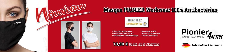 Masque alternatif de Protection respiratoire en tissu Pionier Workwear